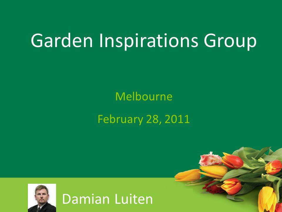 Damian Luiten Garden Inspirations Group Melbourne February 28, 2011