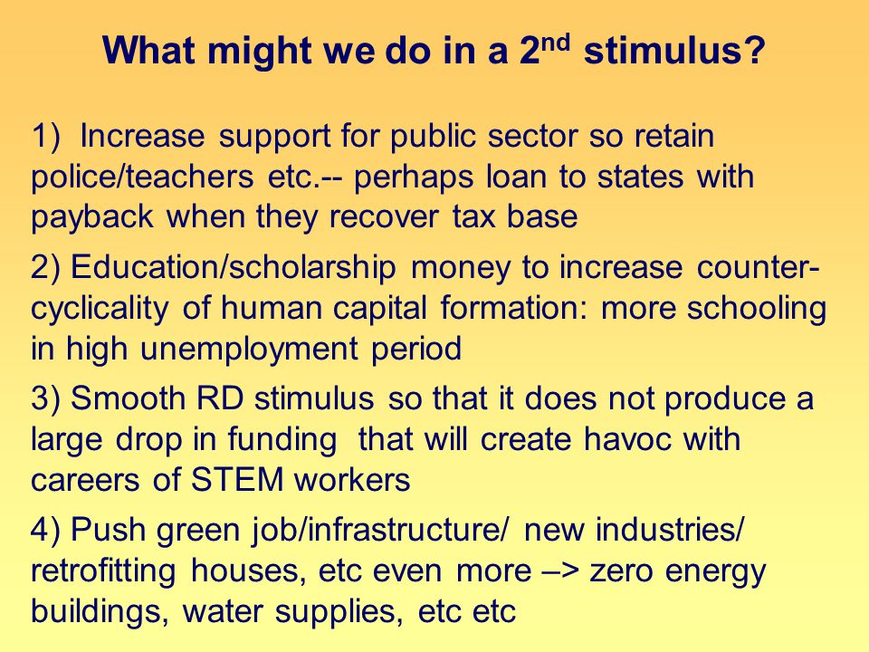 What might we do in a 2 nd stimulus.