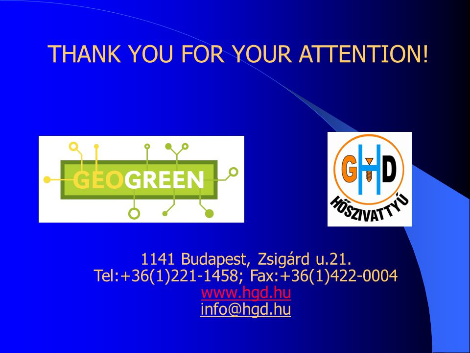 THANK YOU FOR YOUR ATTENTION. 1141 Budapest, Zsigárd u.21.