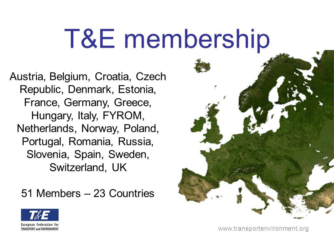 www.transportenvironment.org Austria, Belgium, Croatia, Czech Republic, Denmark, Estonia, France, Germany, Greece, Hungary, Italy, FYROM, Netherlands,