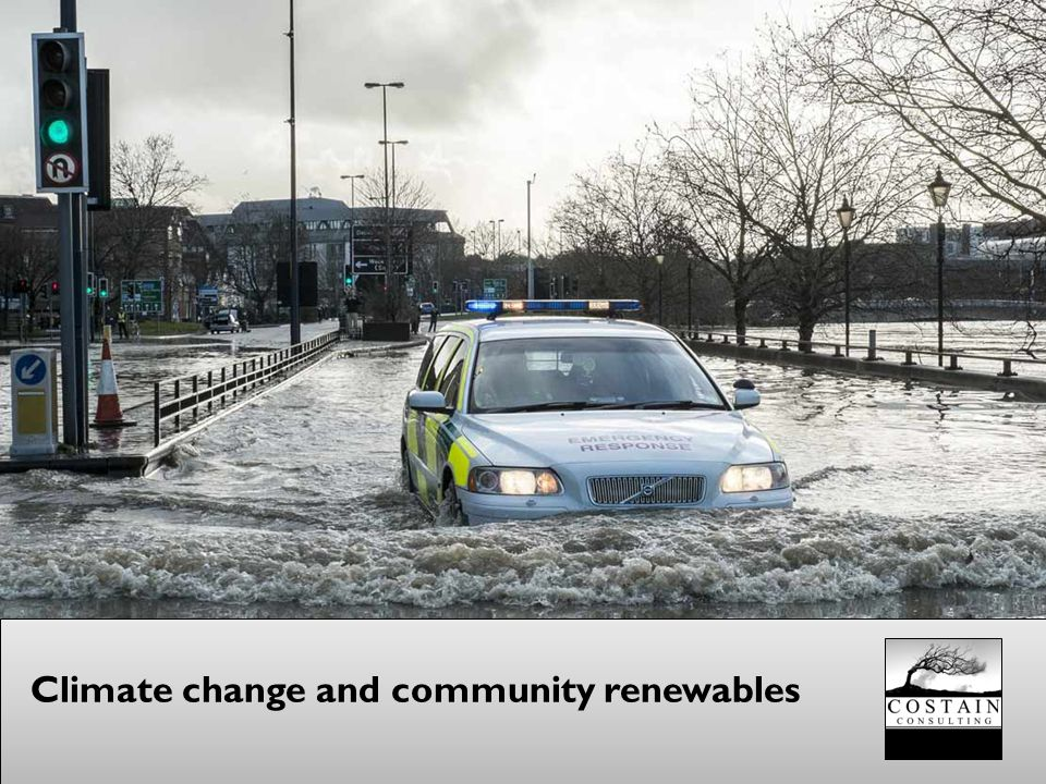 Climate change and community renewables