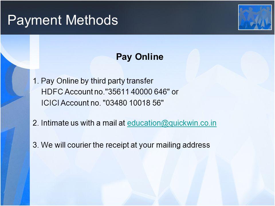 Payment Methods 1.
