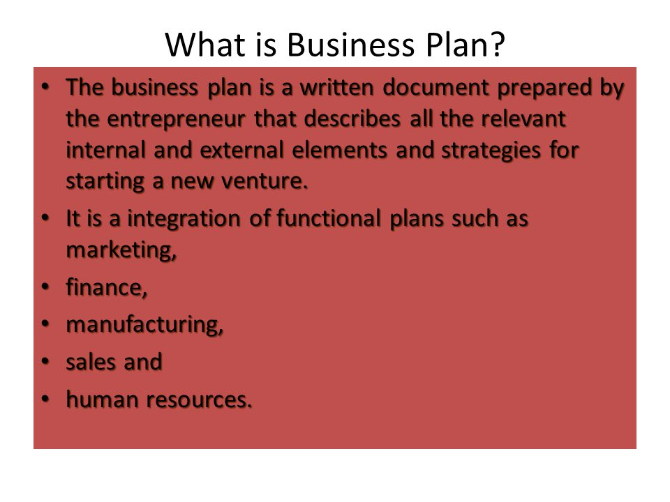 What is Business Plan.