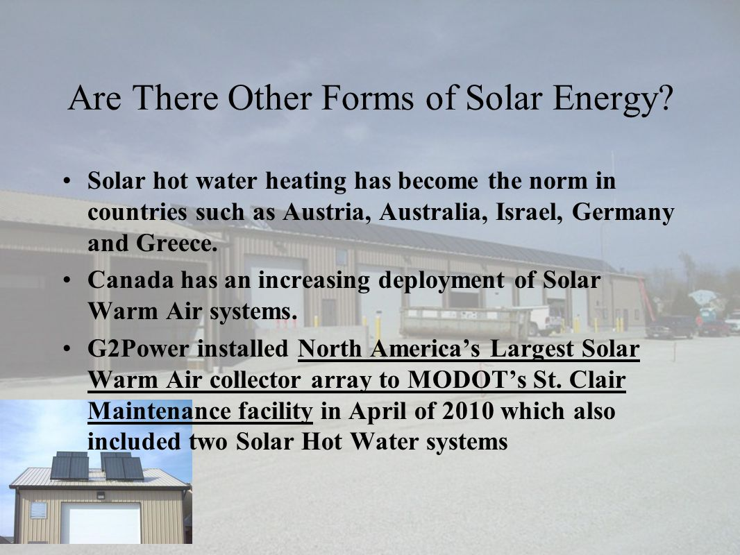 Are There Other Forms of Solar Energy.