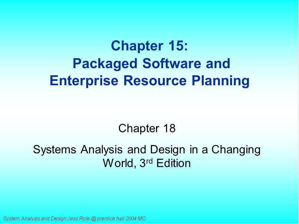 Major Characteristics of ERP