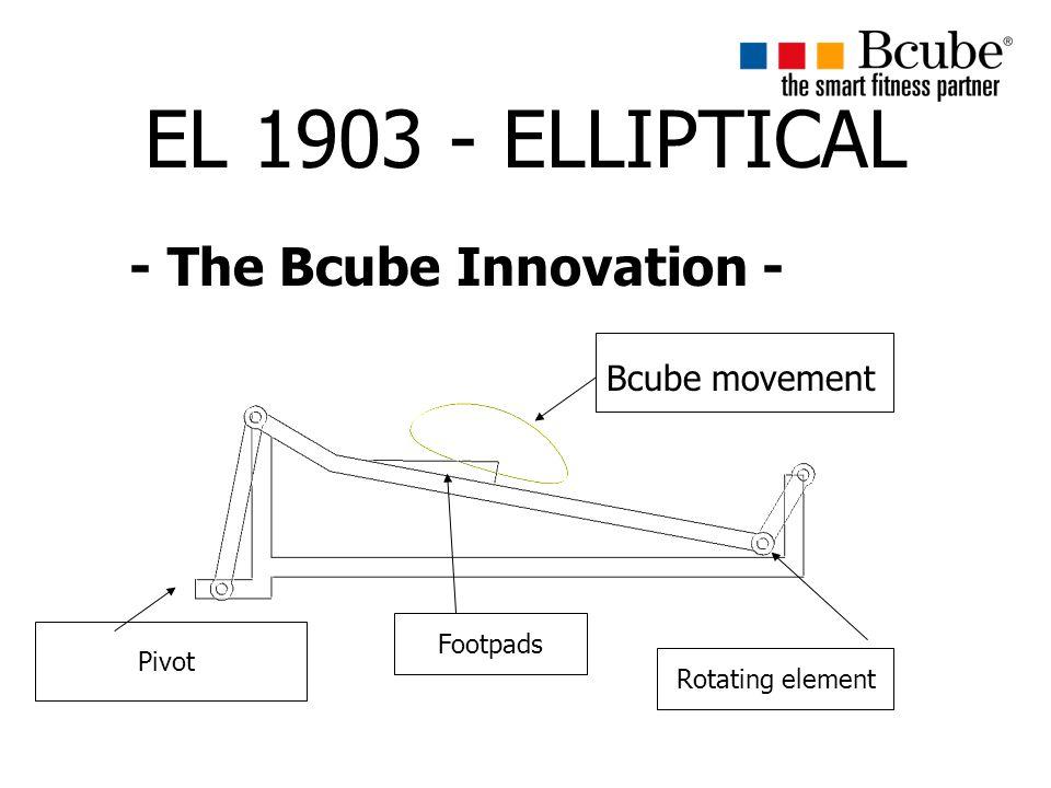 EL 1903 - ELLIPTICAL - The Bcube Innovation - Bcube movement Pivot Footpads Rotating element