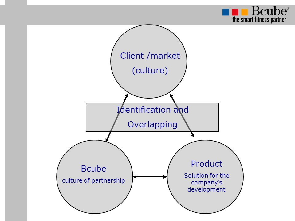 Identification and Overlapping Client /market (culture) Bcube culture of partnership Product Solution for the company's development