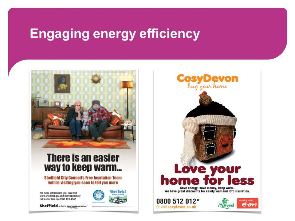 Engaging energy efficiency