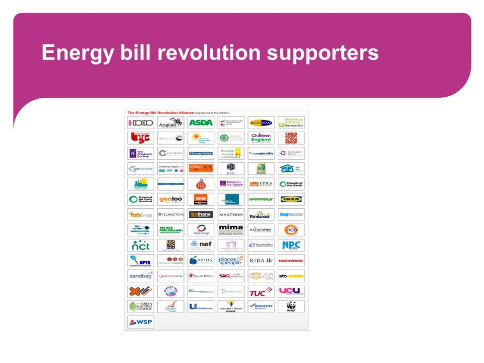 Energy bill revolution supporters