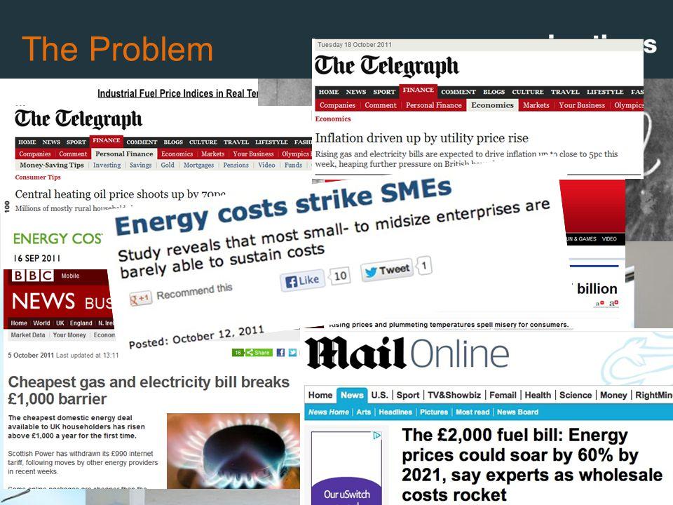 The Problem Source: DECC, June 2012 Since 2001: Oil  254% Gas  94%