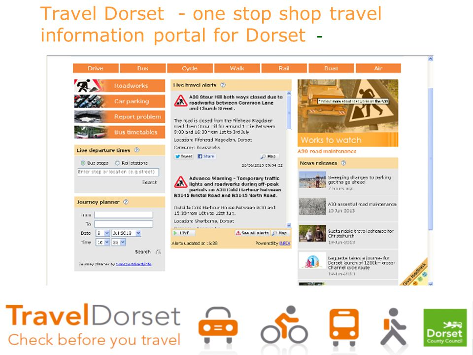 Travel Dorset - one stop shop travel information portal for Dorset -