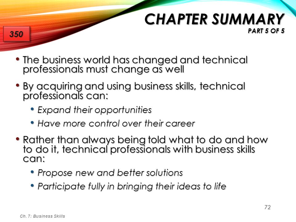 72 The business world has changed and technical professionals must change as well The business world has changed and technical professionals must chan