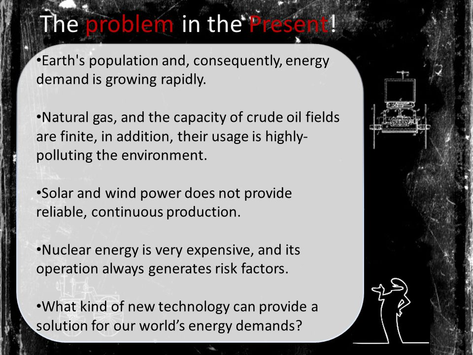 The problem in the Present. Earth s population and, consequently, energy demand is growing rapidly.