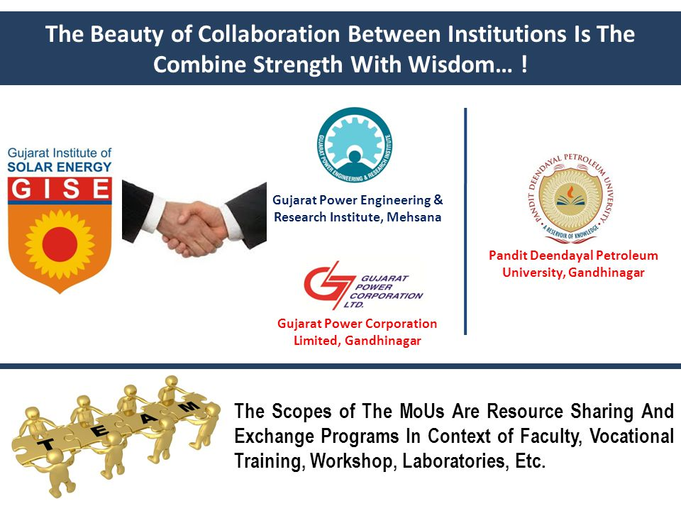 The Beauty of Collaboration Between Institutions Is The Combine Strength With Wisdom… .