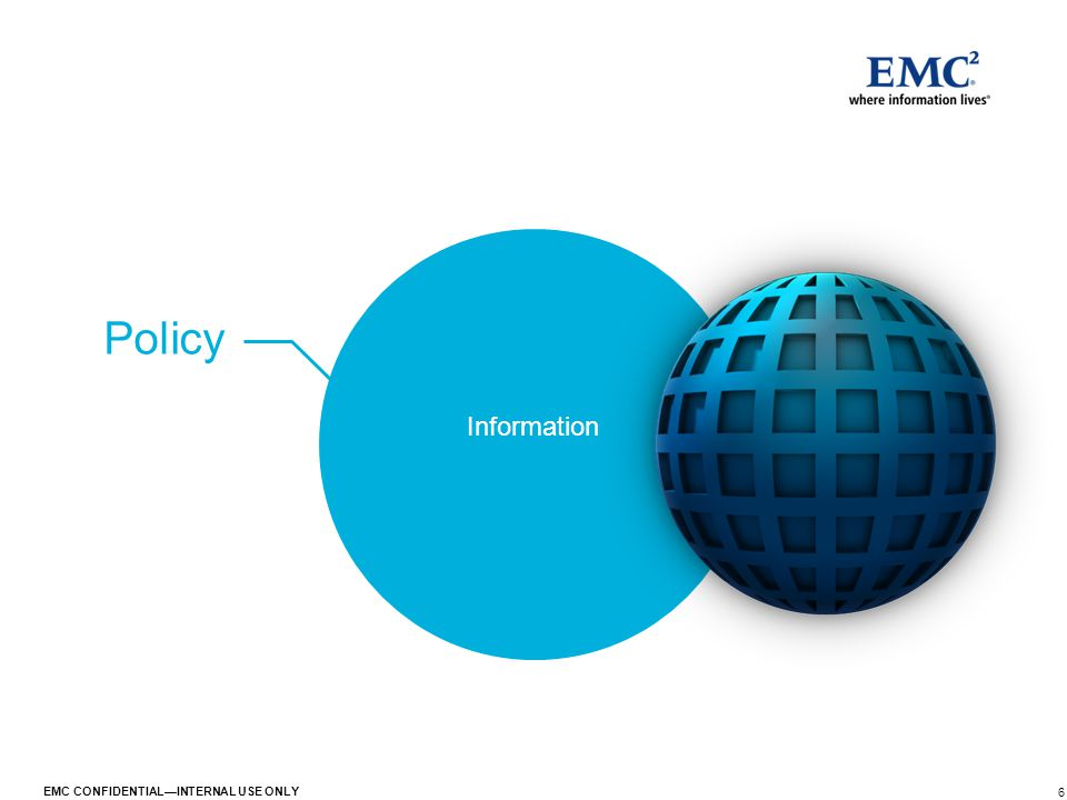 6 EMC CONFIDENTIAL—INTERNAL USE ONLY Policy Information
