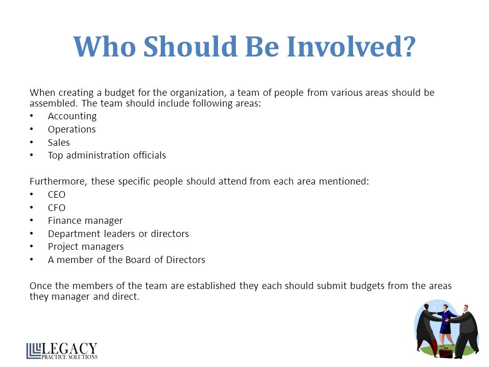 Who Should Be Involved.