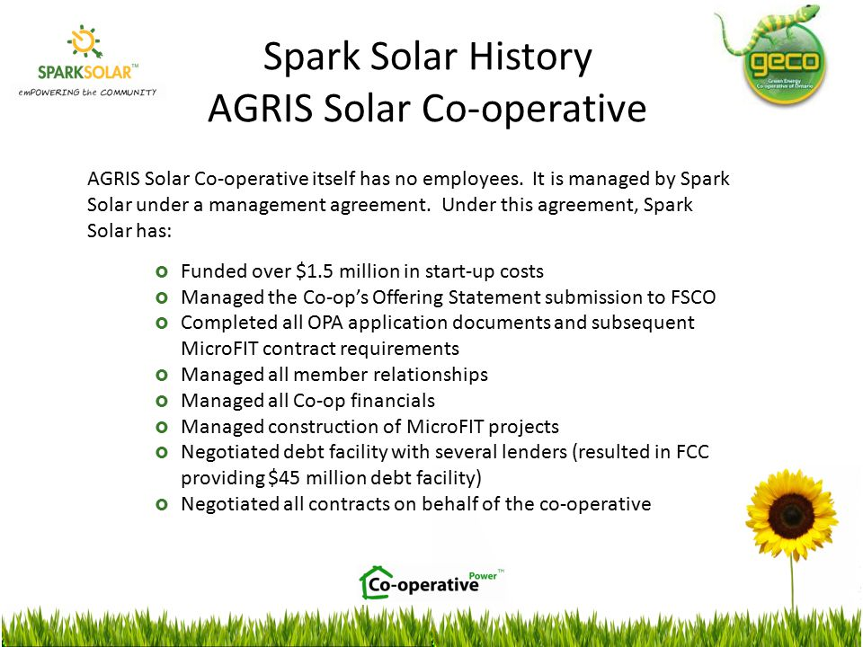 AGRIS Solar Co-operative itself has no employees.