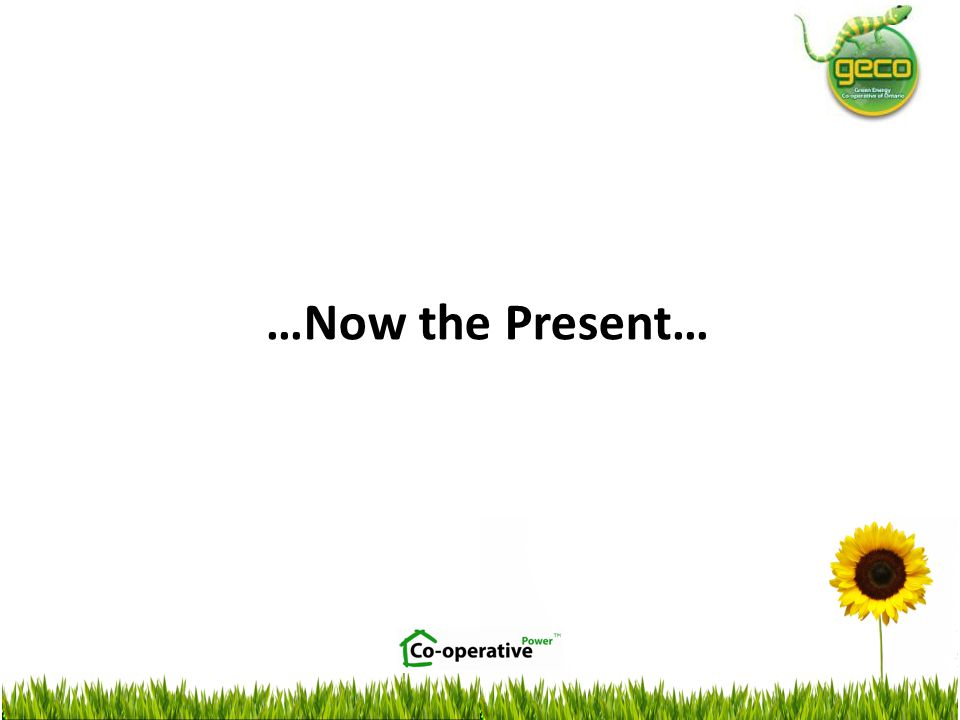 …Now the Present…