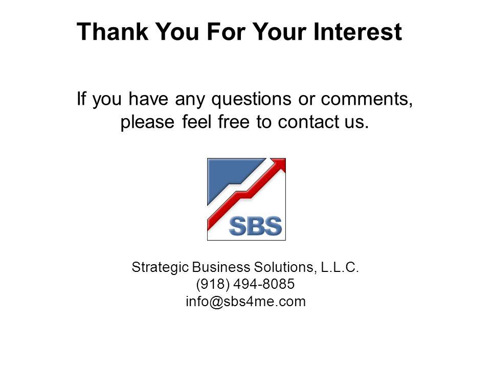 Strategic Business Solutions, L.L.C.