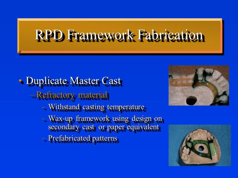 Direct Retainers Clasps have uniform taperClasps have uniform taper No Taper