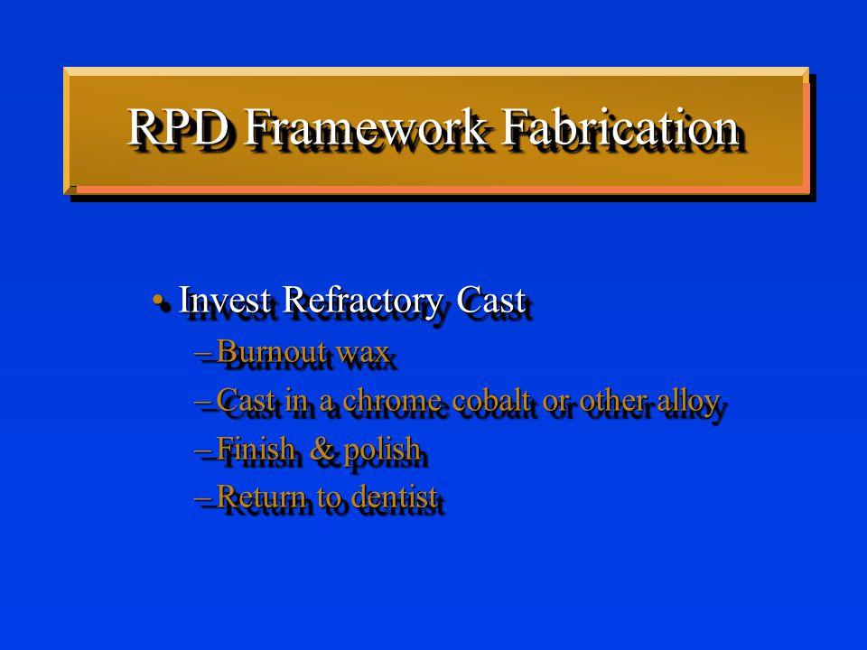 Partial Denture Framework Adjustment Rudd & KuebkerRudd & Kuebker –75% of frameworks don't fit perfectly –Active - orthodontic movement –Adjust to make passive Rudd & KuebkerRudd & Kuebker –75% of frameworks don't fit perfectly –Active - orthodontic movement –Adjust to make passive