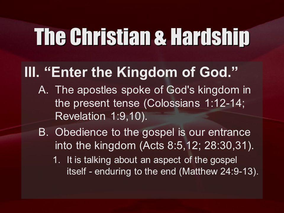 The Christian & Hardship III.
