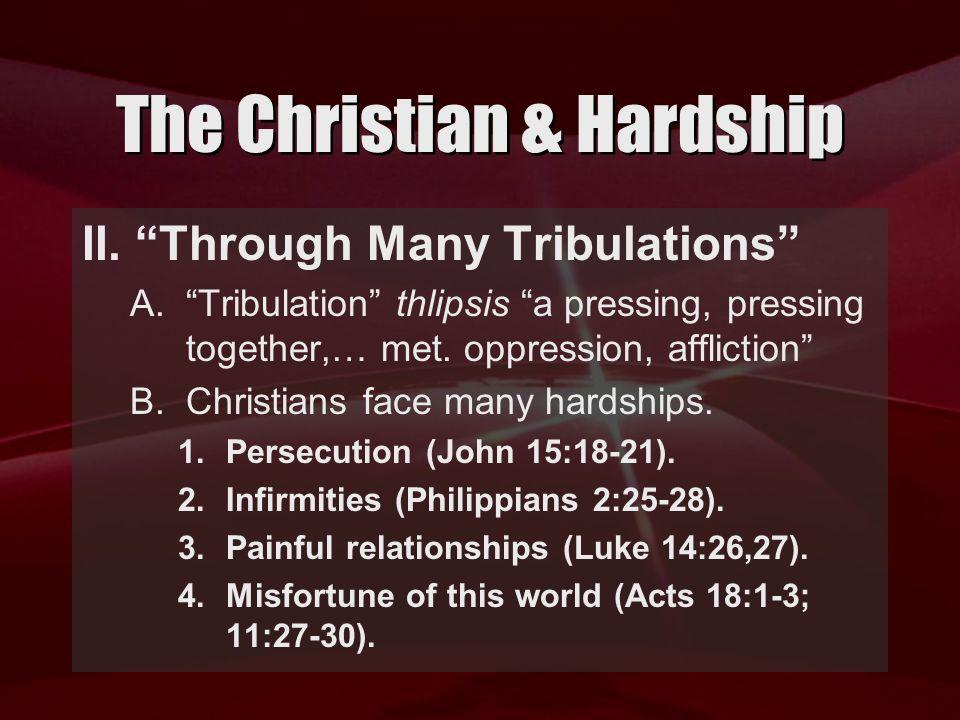 The Christian & Hardship II.