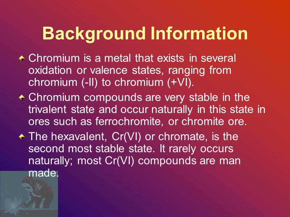 HEXAVALENT CHROMIUM OVERVIEW 29 CFR 1926.1126 CHROMIUM (VI) Susan Harwood Grant # 46E6 – HT34