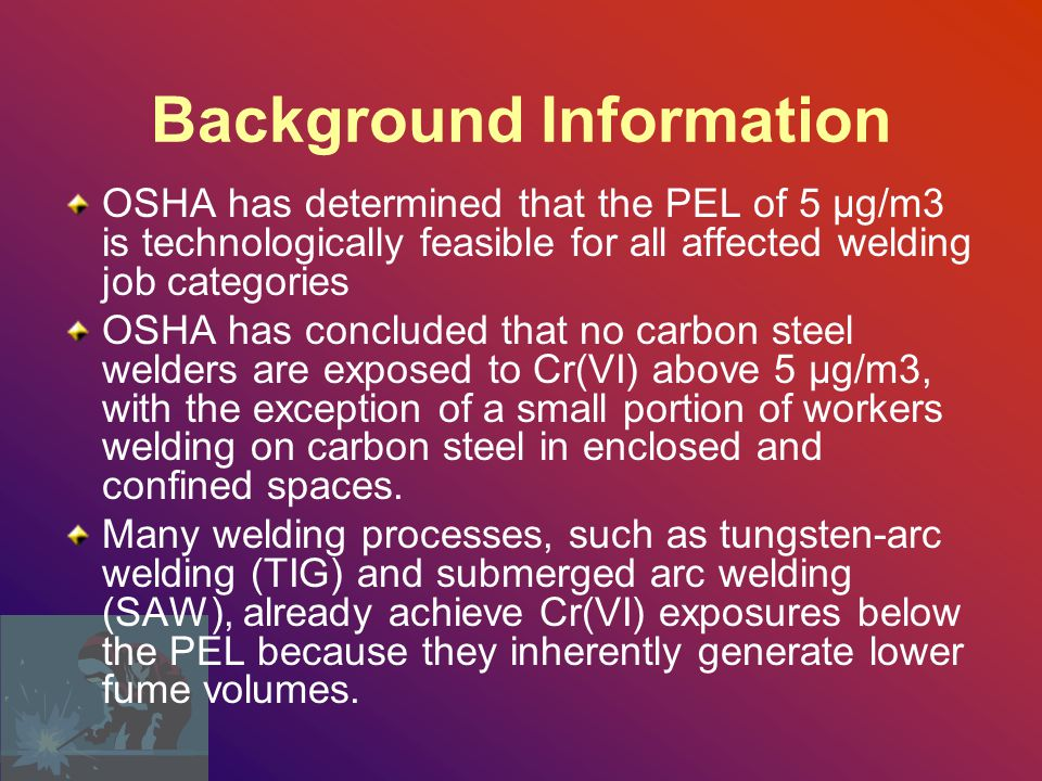 Background Information Chromium is a metal that exists in several oxidation or valence states, ranging from chromium (-II) to chromium (+VI).