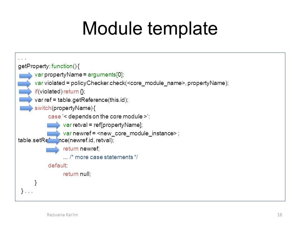 Module template...