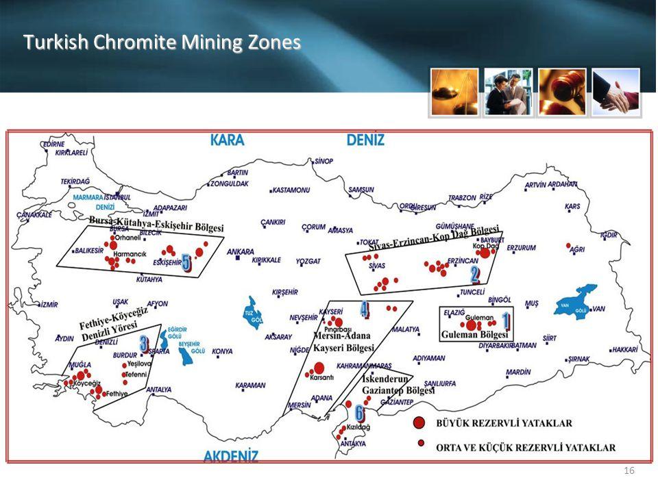 16 Turkish Chromite Mining Zones