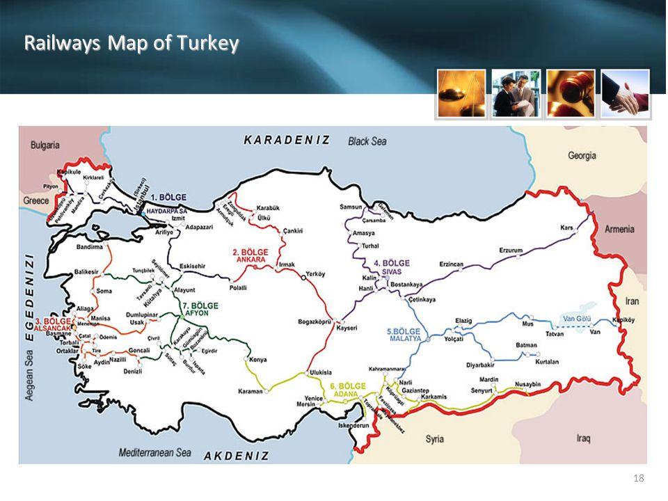 18 Railways Map of Turkey