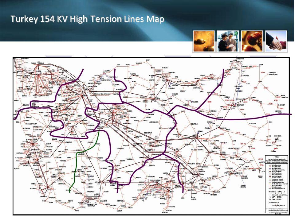 20 Turkey 154 KV High Tension Lines Map