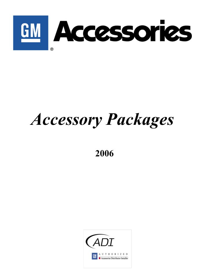 Accessory Packages 2006