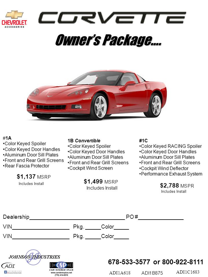 Owner's Package….