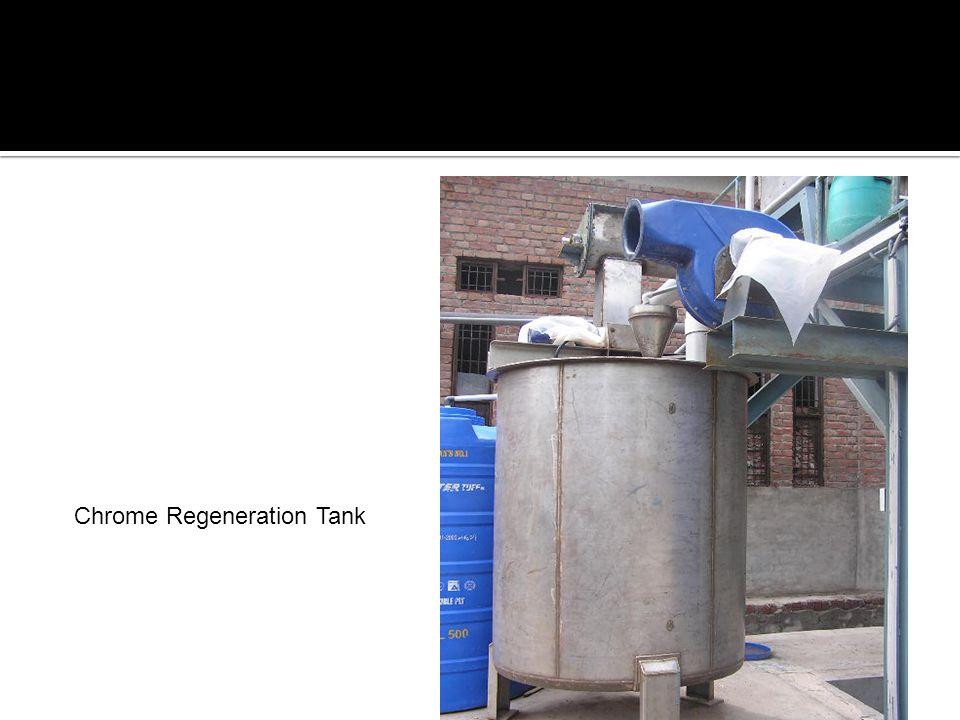Chrome Regeneration Tank