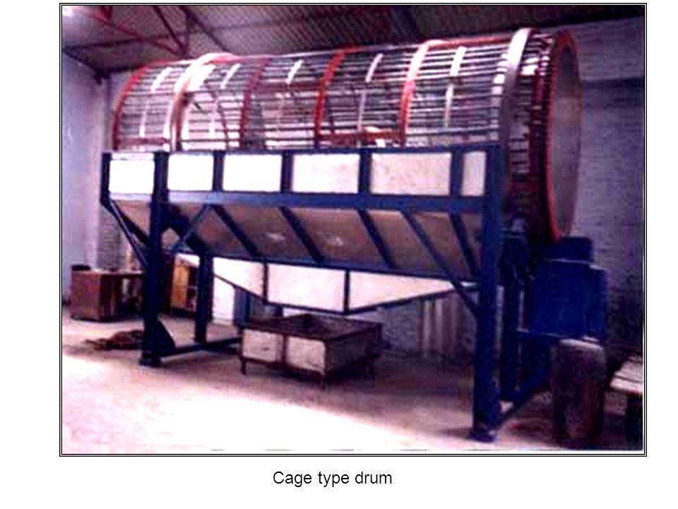 Cage type drum