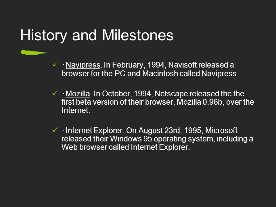 History and Milestones ・ Navipress.