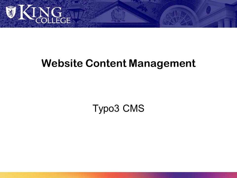 Website Content Management Typo3 CMS