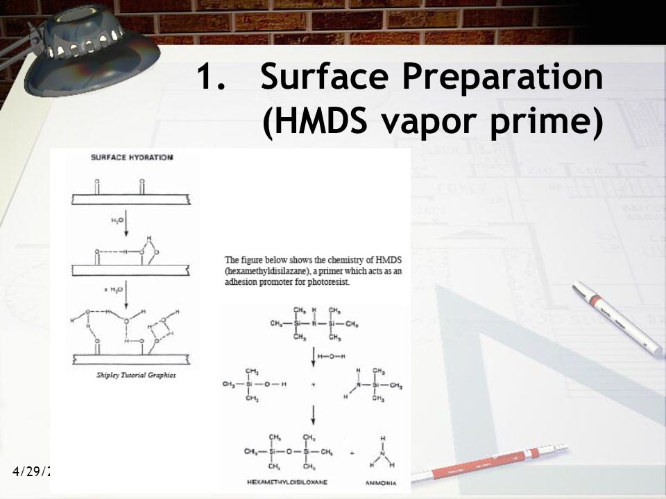 4/29/2015 1.Surface Preparation (HMDS vapor prime)