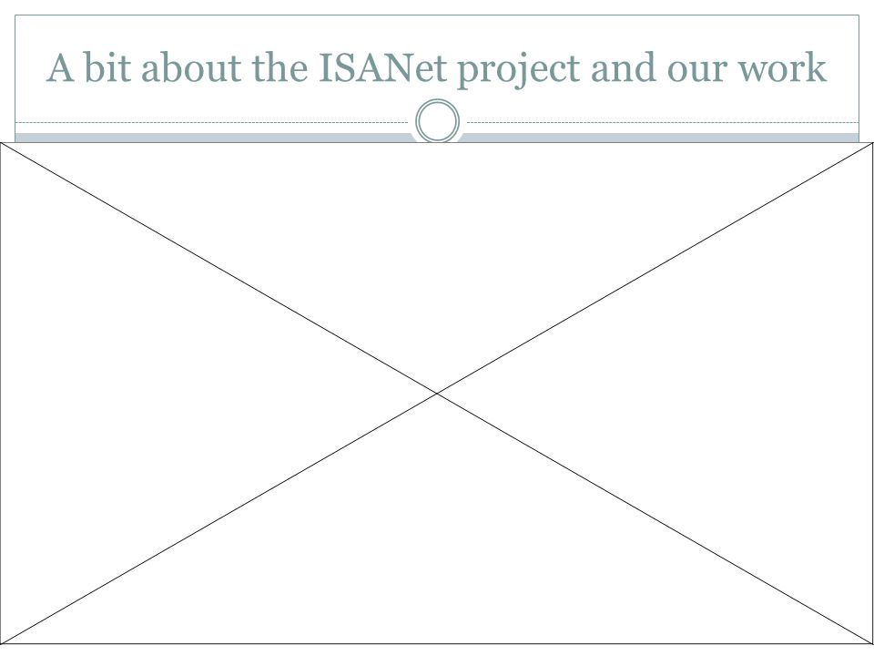 A bit about the ISANet project and our work
