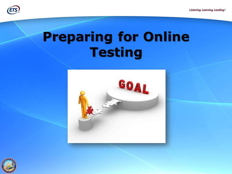 Preparing for Online Testing