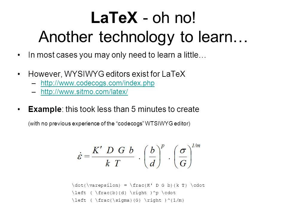 LaTeX - oh no.