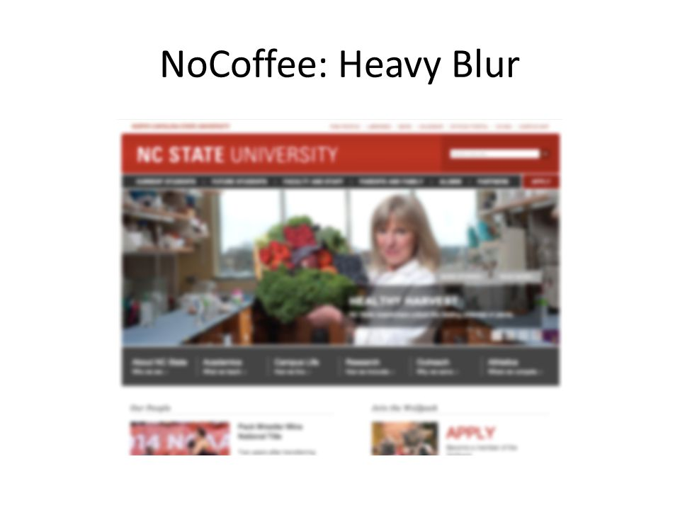 NoCoffee: Heavy Blur