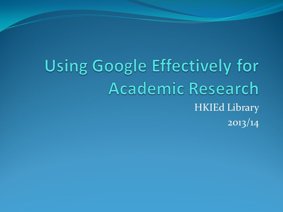 HKIEd Library 2013/14