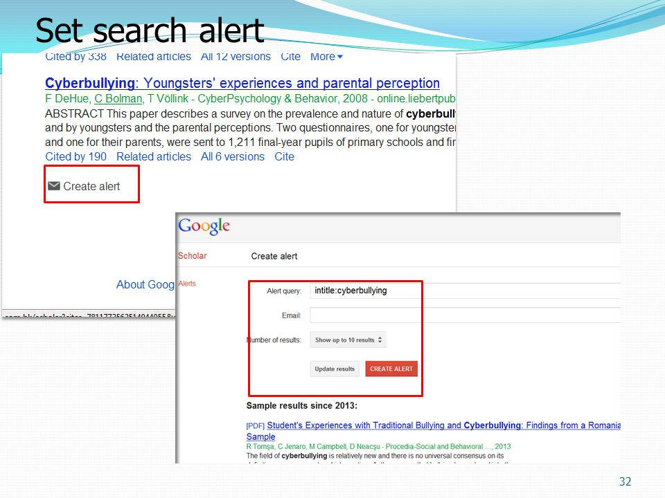 33 Google Scholar Author Search (author:) – use the surname and initial of the given name and / or Christian name E.g.