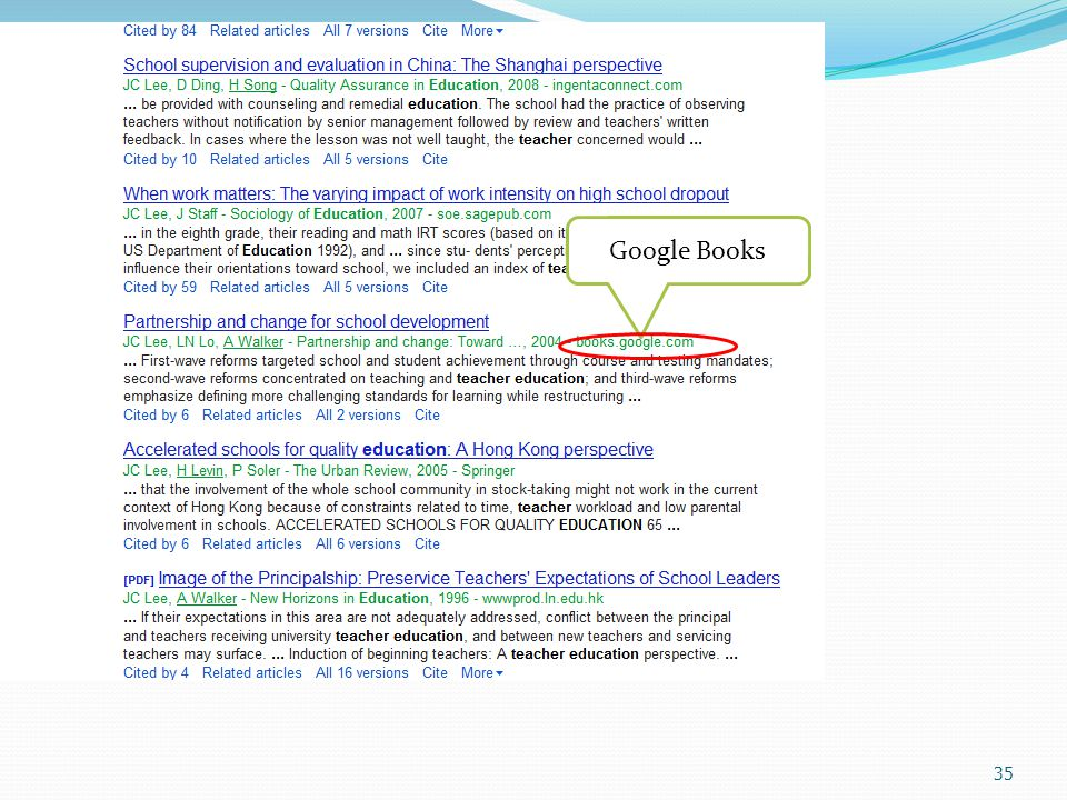 35 Google Books
