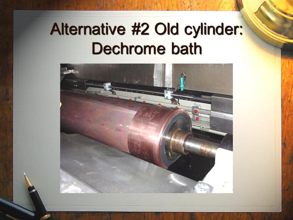 Alternative #1 New steel bases: Nickel iron bath Combistar