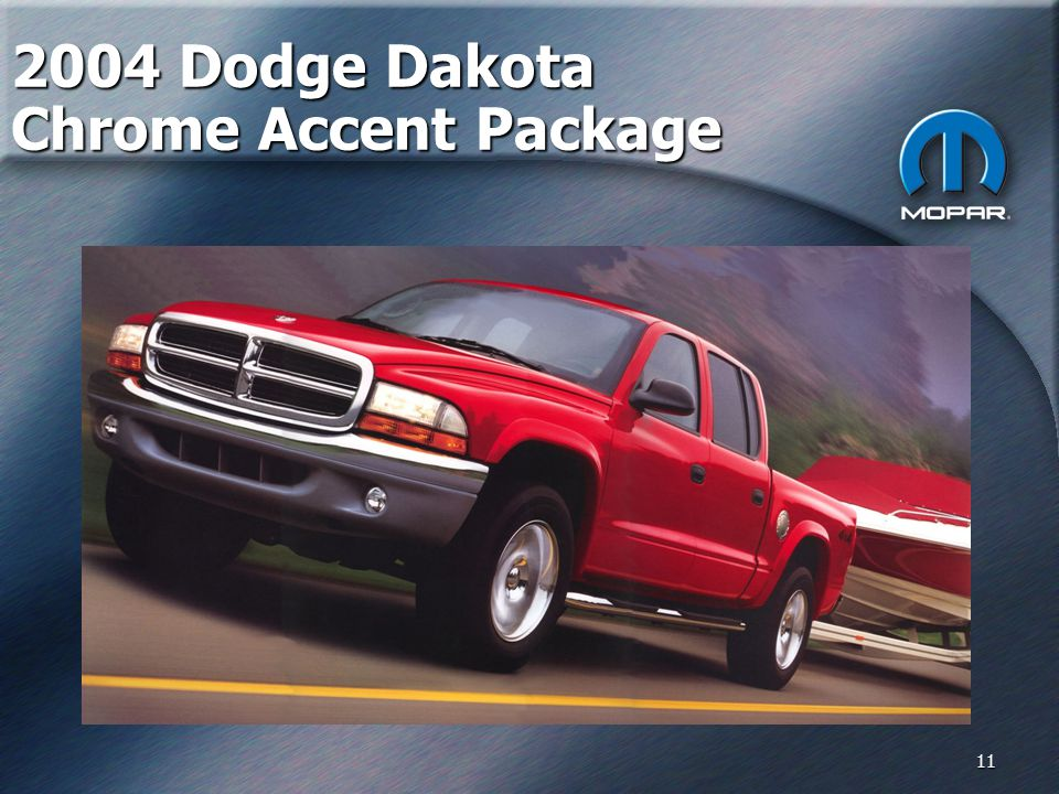 11 2004 Dodge Dakota Chrome Accent Package