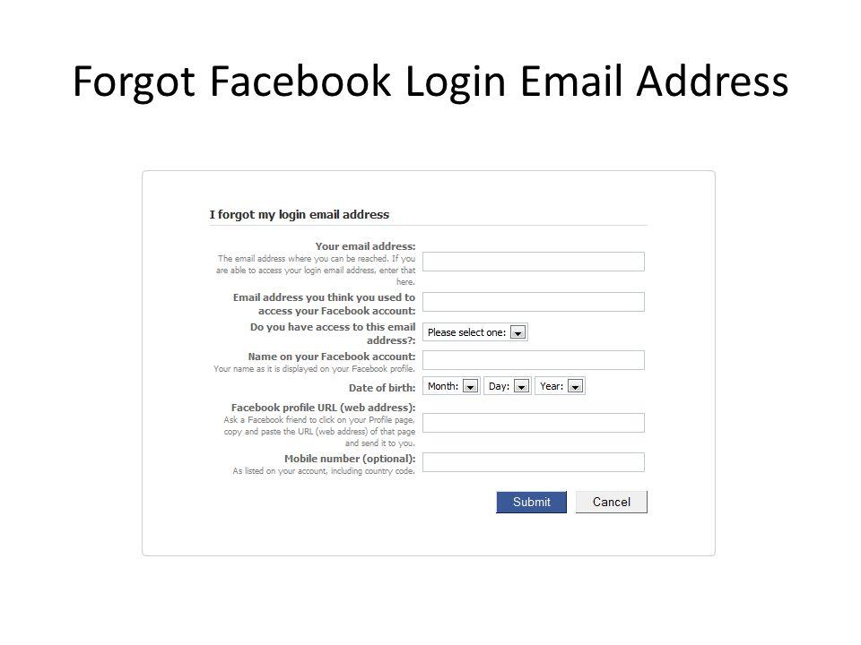 Forgot Facebook Login Email Address